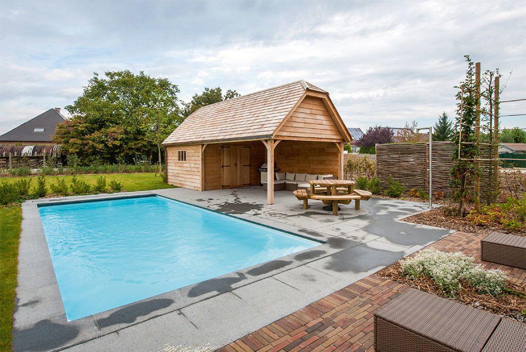 Bollen Zwembaden Le parfait couple avec la poolhouse